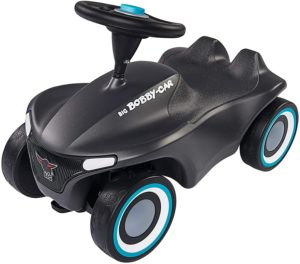 BIG Spielwarenfabrik 800056243 Bobby-Car-Neo Anthrazit BIG-Bobby-Car-Neo Anthrazit und Aubergine